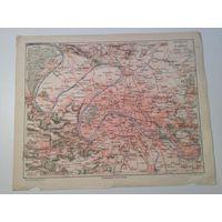 Карта Парижа начало ХХвека