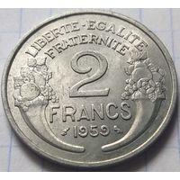 Франция 2 франка, 1959       ( 6-3-2 )
