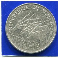 Чад 100 франков 1972