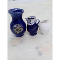 Мини-вазы. Керамика, фарфор, Майорка, Германия. Одним лотом.