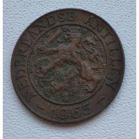 """Нидерландские Антильские острова 2,5 цента, 1965 Метка """"Рыба"""" после даты  8-4-23"""