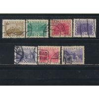 Австрия Респ 1932 Виды Стандарт Малый формат #530-1,534-7,539