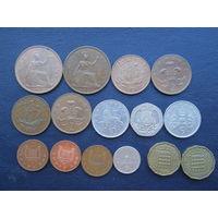 Монеты Великобритании. С 1 рубля.