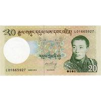 Бутан, 20 нгултрум, 2013 г., UNC