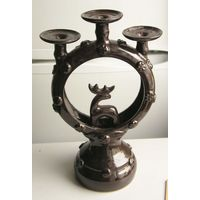 Подсвечник на 3 свечи керамика времен СССР