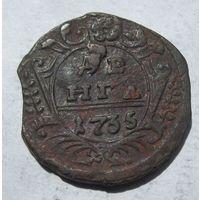 Россия, деньга, 1735, медь