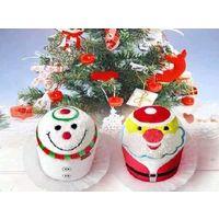 Полотенца прессованные, как пирожное, Дед Мороз или Снеговик