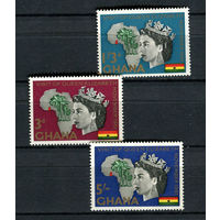 Гана - 1961 - Визит Королевы Елизаветы в Гану - [Mi. 109-111] - полная серия - 3 марки. MNH.