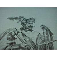 Гравюра Тевтонский рыцарь (альбом Ходьки, нач. 19 в., Франция)