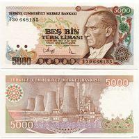 Турция. 5000 лир (образца 1990 года, P198, UNC)
