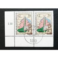 Австрия 1979 г. 150 лет Центральному статистическому управлению Австрии, полная серия, сцепка 2 марки #0317-Л1P18