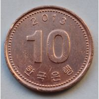 Южная Корея 10 вон, 2013 г.