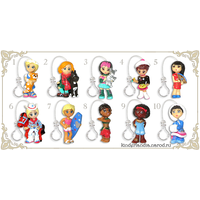 Полная серия фигурок Ландрин / Подружка.  Мировые девчонки (2007)