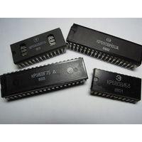 Микросхемы серии  КР580(ВМ,ВГ,ВВ,ВТ,ВИ,ВК,ВН,ВР,ГФ). Для ретро-техники.
