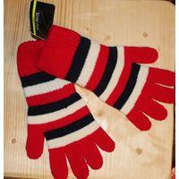 Новые перчатки удлиненные на ребенка 6-7 лет