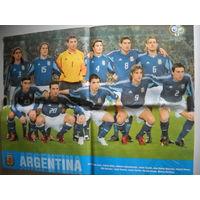 Настенный постер сборной Аргентины по футболу ЧМ 2006 г.