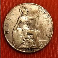 104-13 Великобритания, 1/2 пенни 1924 Единственное предложение монеты данного года на АУ