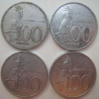 Индонезия 100 рупий 1999, 2001, 2002, 2003 гг. Цена за 1 шт. (g)