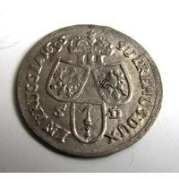 3 гроша 1696 SD Кёнигсберг в люксе