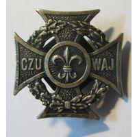 Польский скаут крест харцера пионерия. 88 г. Винт.