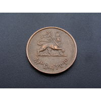 """Эфиопия. 10 центов 1944 год  КМ#34  """"Император Хайле Селассие"""""""