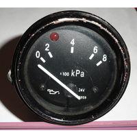Указатель давления масла ГАЗ, ЗИЛ, УАЗ 15.3810 (от 0 до 8 кг/см2) Указатель предназначен для контроля давления воздуха в тормозной системе, давление масла в системе смазки двигателя, давление масла в