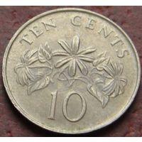 3808:  10 центов 1986 Сингапур