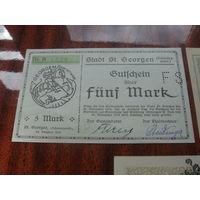 Германия   5 марок 1918 Нотгельд