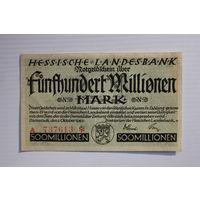 Германия (Darmstadt) 500 миллионов марок 1923 год, aUNC