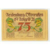Германия, Нотгельд 75 пфеннигов 1921 год.