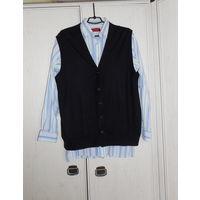 Жилет Безрукавка (шерсть) + рубашка(80% хлопок) Р-р 48-50