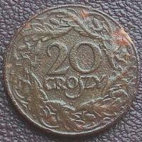 20 грошей 1923 ПОЛЬША - цинк