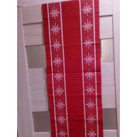 Новый год. Домотканная скатерть-дорожка на стол, 130х35 см.