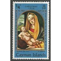 Кайманы. Рождество. Живопись Б.Виварини. 1969г. Mi#243.