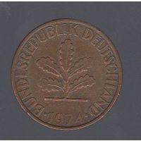 2 пфеннига Германия (ФРГ) 1974 J_Лот 1435