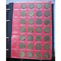 ПОЛНАЯ КОЛЛЕКЦИЯ Германия ФРГ 10 пфеннигов 1948-1994 все монетные дворы - 129 монет, погодовка без повторов!