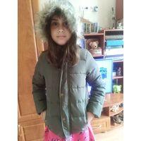 Куртка парка для крутой девочки 7-9 лет