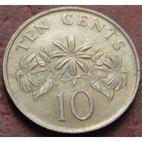 3809:  10 центов 1986 Сингапур