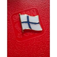 Значок флаг Финляндии.