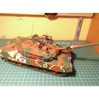 Модель танка K1A1 type 88, собранная и окрашенная, масштаб 1/35