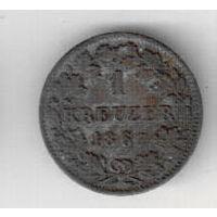 Бавария 1 крейцер 1867