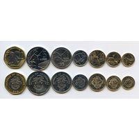 Сейшельские острова НАБОР 7 монет 2016 ФАУНА UNC