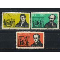 Германия ГДР 1963 Театральные деятели #952-4