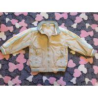 Курточка-ветровка на хлопковой подкладке р. 74-80