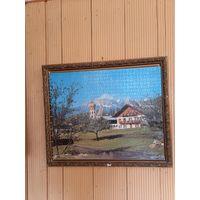 Рамка багетная из времён СССР для картины интерьера