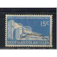 NL Колонии Нидерландские Антилы 1957 Кюрасао Виллемстад Отель #64