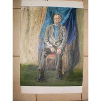 Картина маслом, 30х50 см. На холсте и картоне.