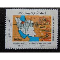 Иран 1990г. Карта.