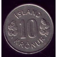 10 Крон 1977 год Исландия