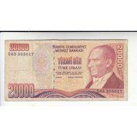 ТУРЦИЯ 20 000 ЛИР 1970г. 65305617 распродажа